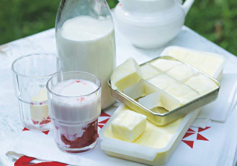 Ledový jahodový jogurt