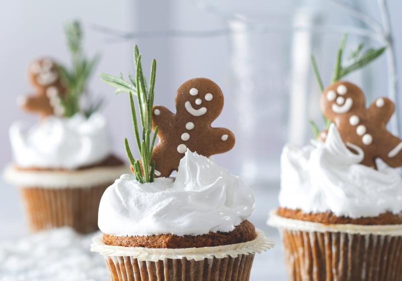 Mrkvové muffiny se sněhovou čepicí