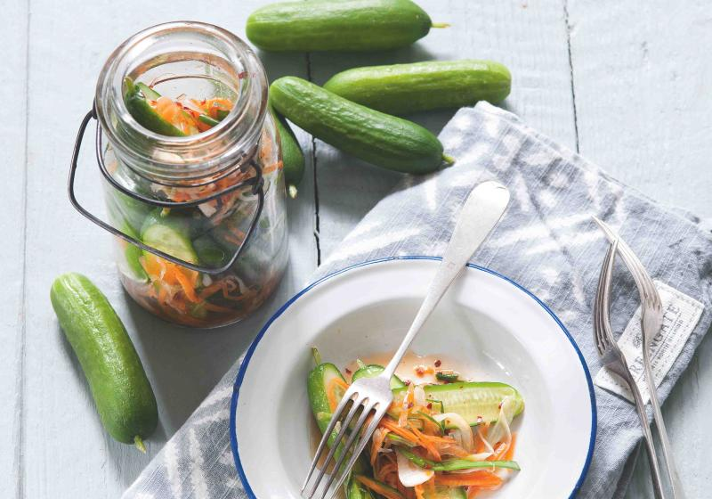 Okurkový salát nebo kimči
