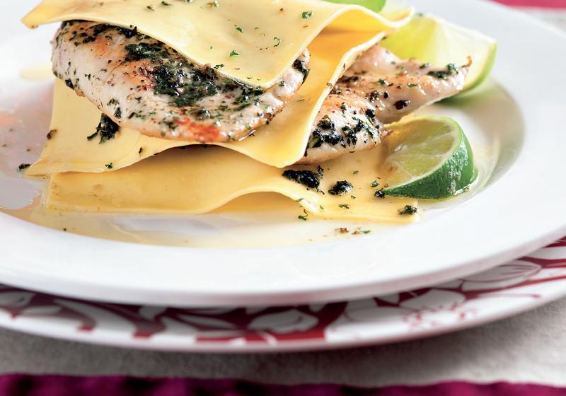 Otevřené lasagne Mojito