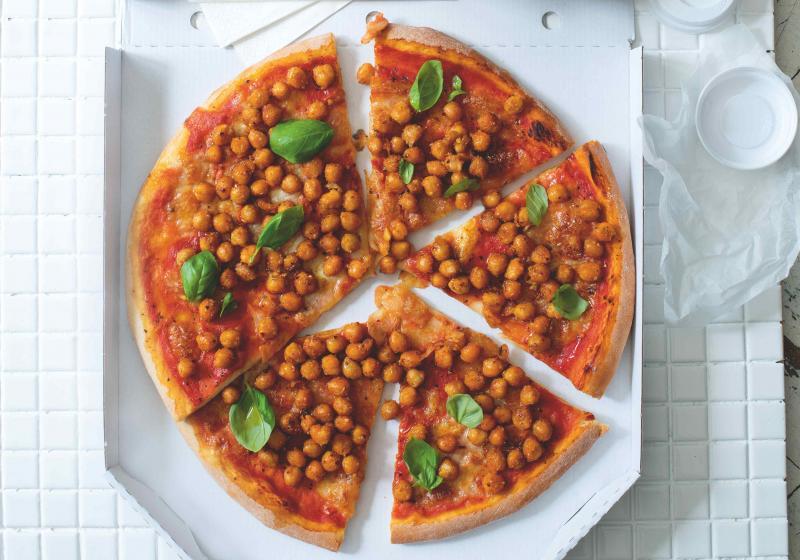 Pizza s cizrnou