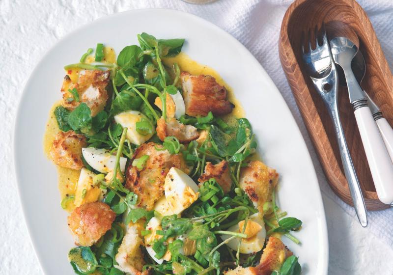 Potočnicový salát s vejcem
