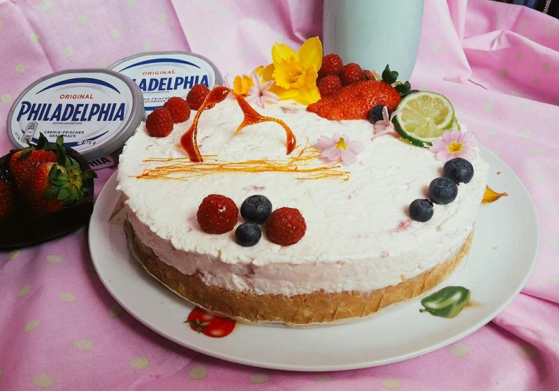 "Limetkový cheesecake s malinami ""Vítání jara"""