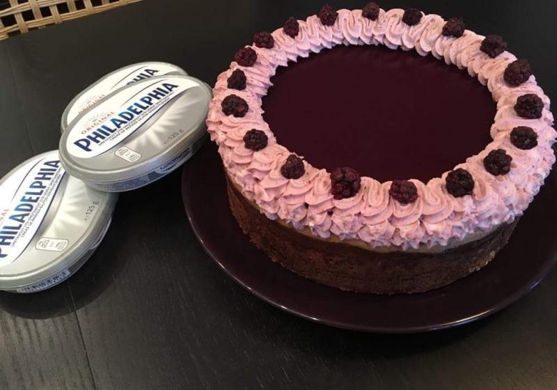 Ostružinový bezlepkový cheesecake
