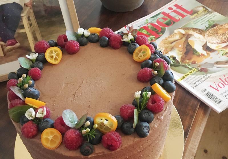 Čokoládový dort k 15. narozeninám Apetitu