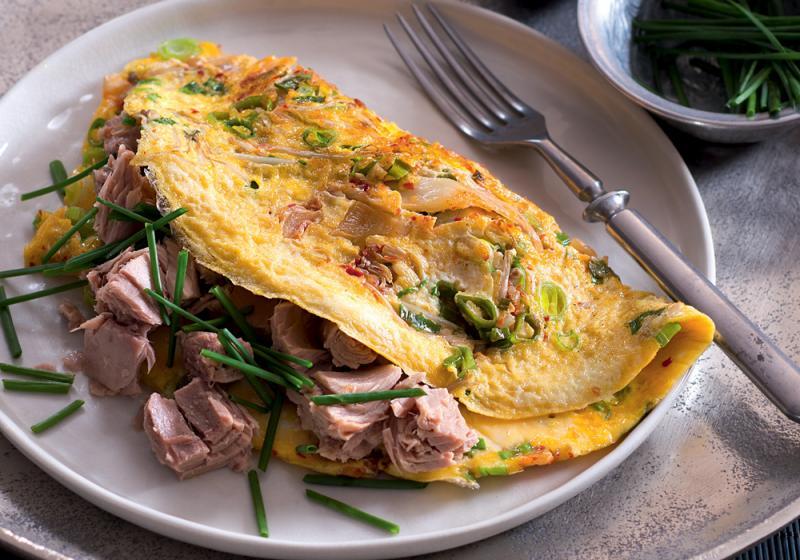 Omeleta s kimči