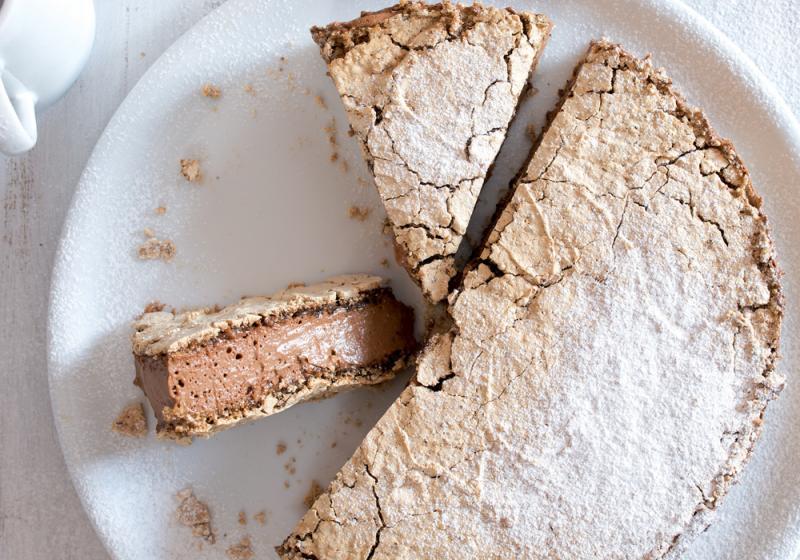 Pusinkový moka dort