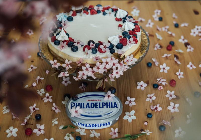 Vanilkový cheesecake s ovocem