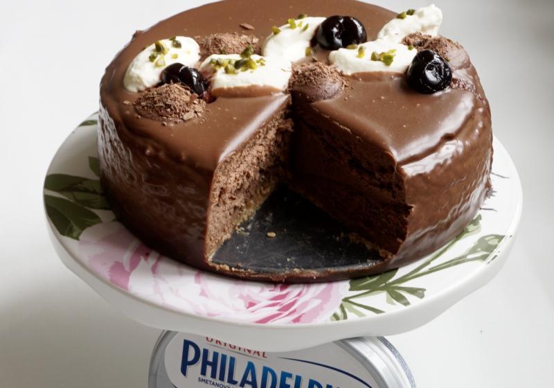 Levandulovo-čokoládový cheesecake