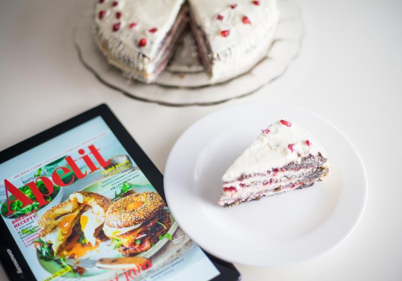 Makový dort