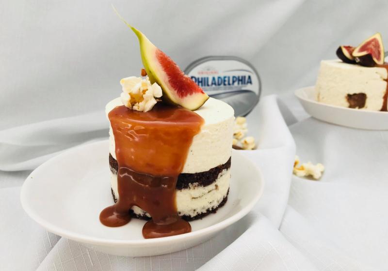 Mini cheesecakes so slaným karamelom