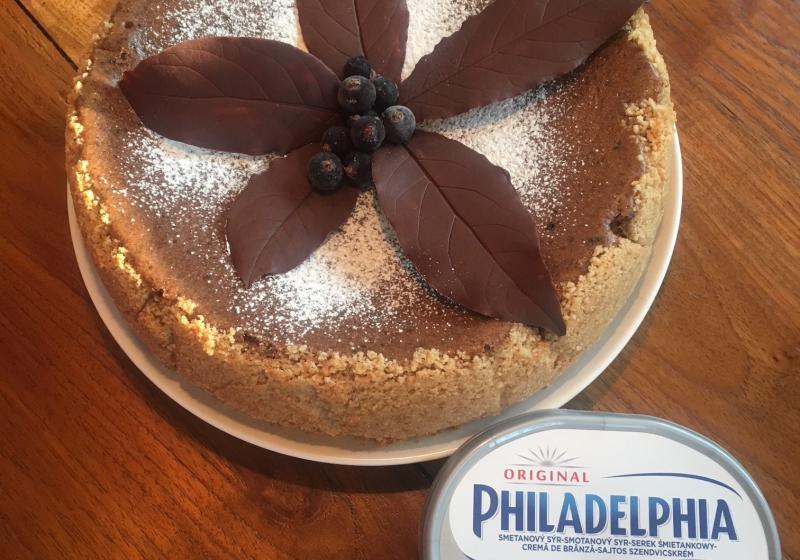 Kávovo čokoládový cheesecake