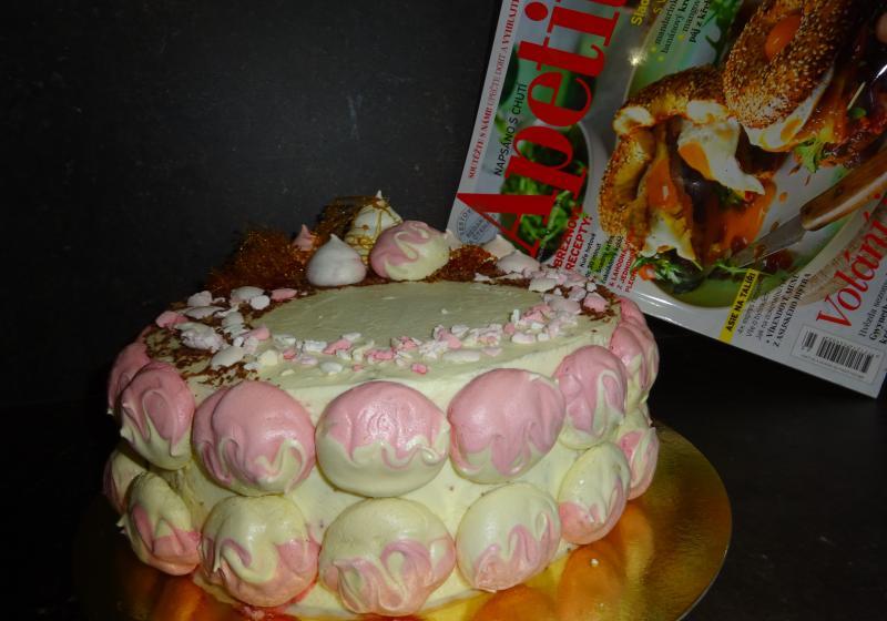Pusinkový dort k 15. narozeninám Apetitu