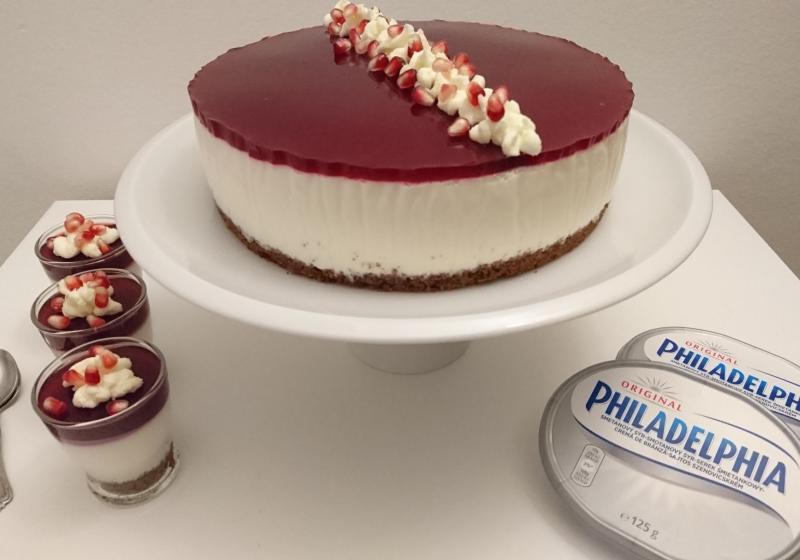 Višňovo-čokoládový nepečený cheesecake