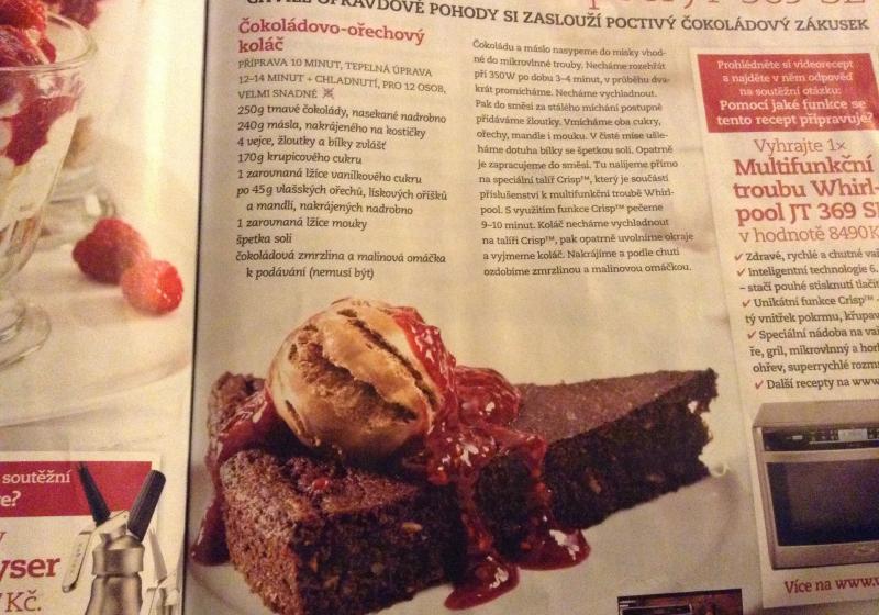 Čokoládový -ořechový koláč