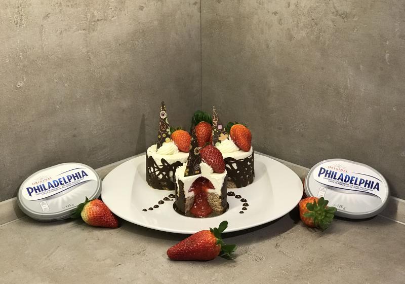Jahodové cheesecakes