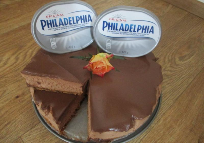 Extra čokoládový cheesecake