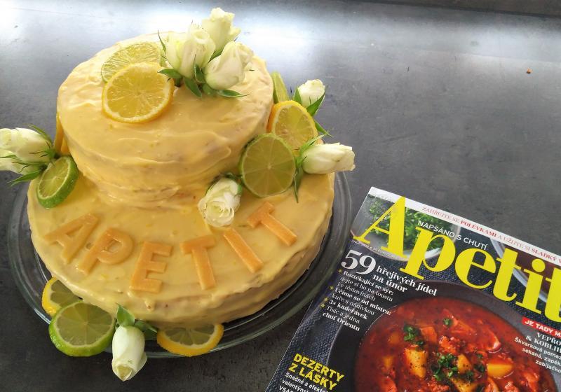 Citronový dort k 15.narozeninám Apetit