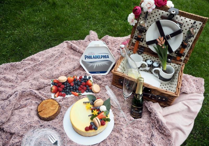 Levandulový cheesecake s borůvkami