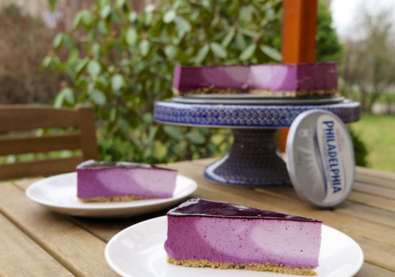 Borůvkový Ombre Cheesecake