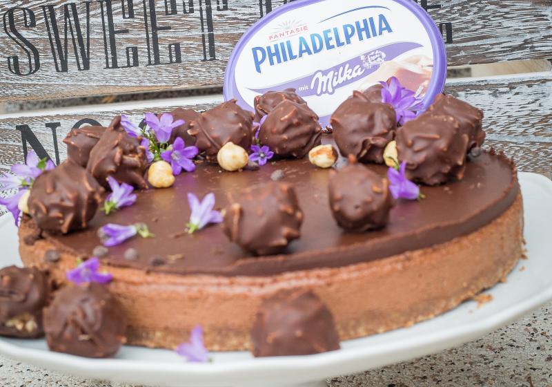 Luxusní nugátový cheesecake s domácími pralinkami bez lepku