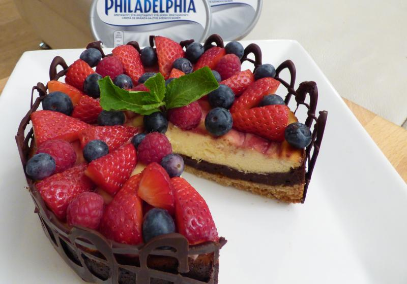 Brown-cheesecake