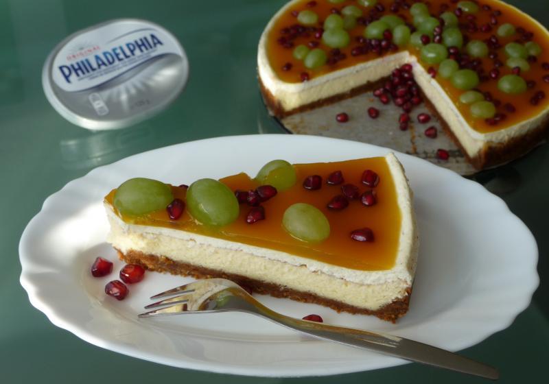 Krémový cheesecake s maracujovým želé