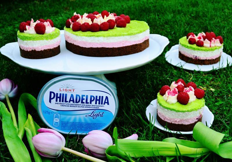Svěží malinový cheesecake