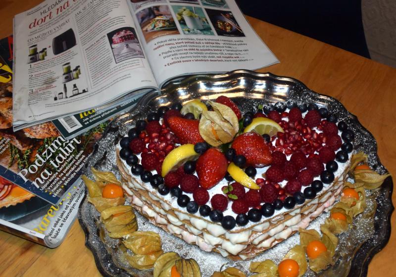 Svěží medový dort