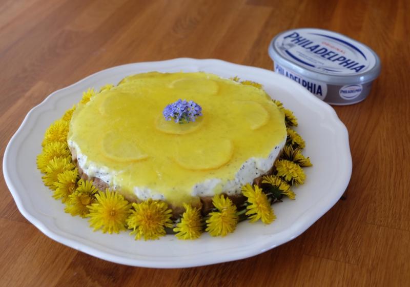 Citrónový cheesecake s makom