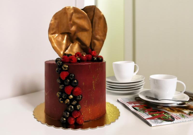 Slavnostní čokoládový dort