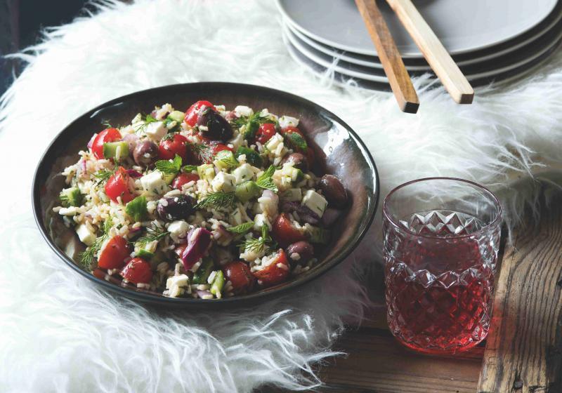 Řecký rýžový salát