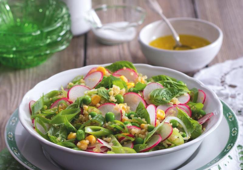 Ředkvičkový salát s pomerančem