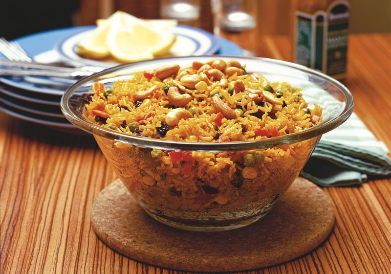 Vegetariánská rýže po indicku