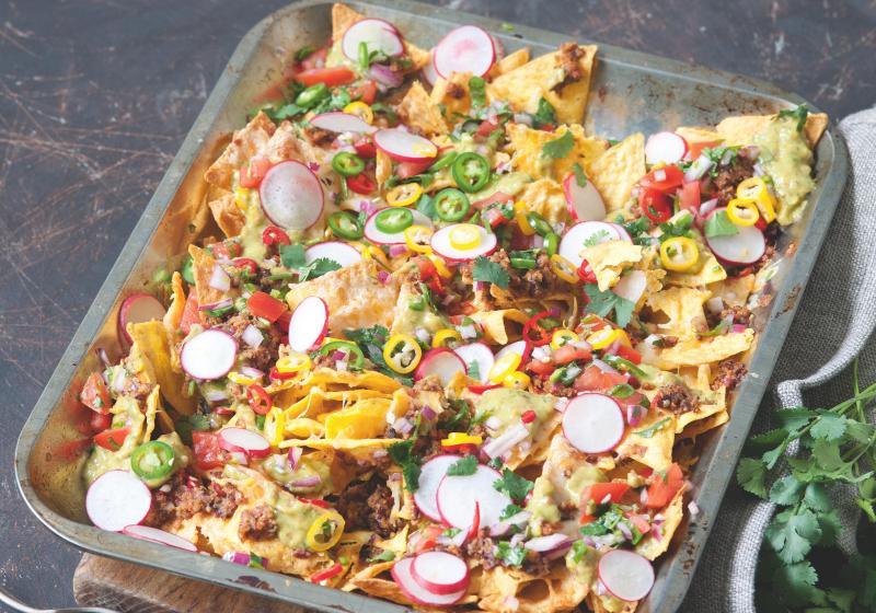 Svěží zapečené nachos