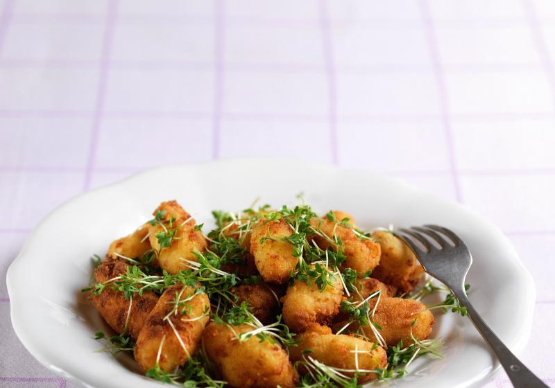 Sýrové krokety s řeřichou
