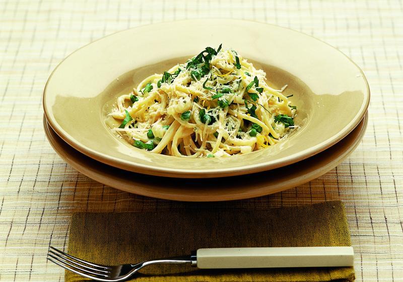 Špagety s citronem  a parmazánem
