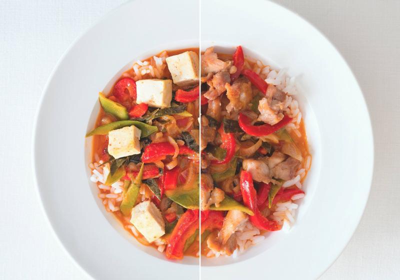 Thajské červené kari + kuře