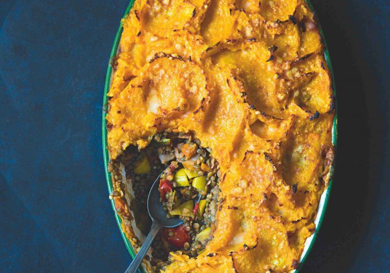 Vegetariánský pastýřský koláč s batátovou kaší