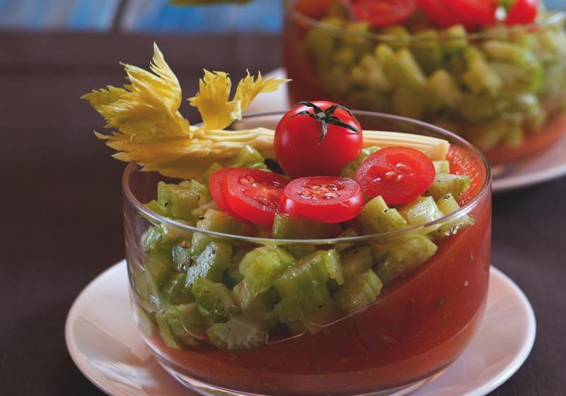 Bloody Mary želé s řapíkatým celerem