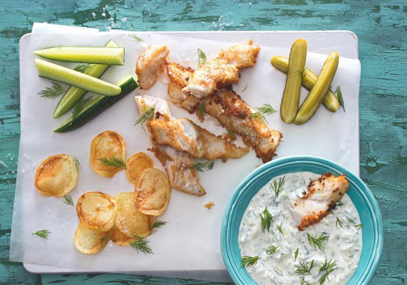 Fish & chips s tzatziki
